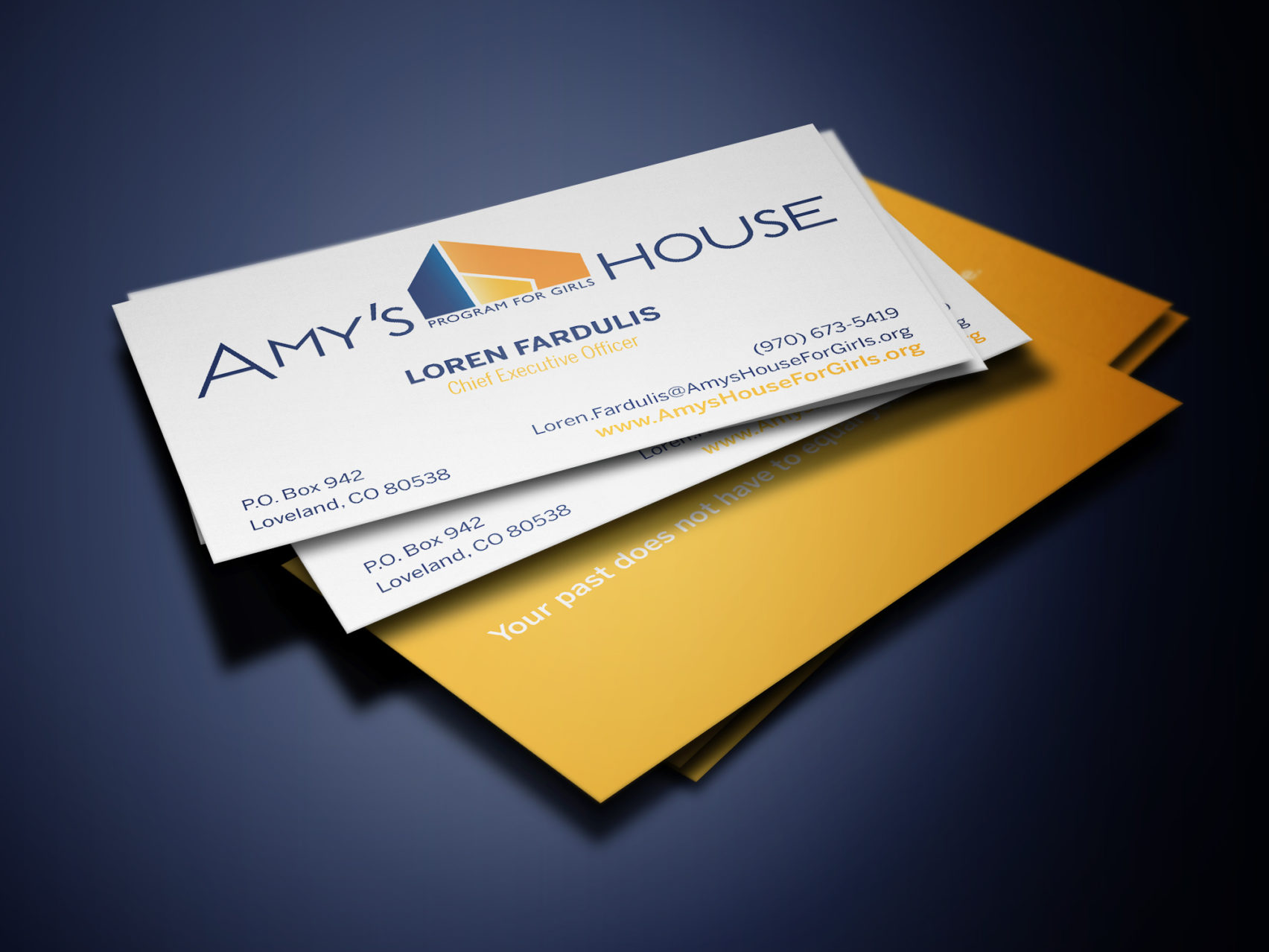 Amy's House business card design