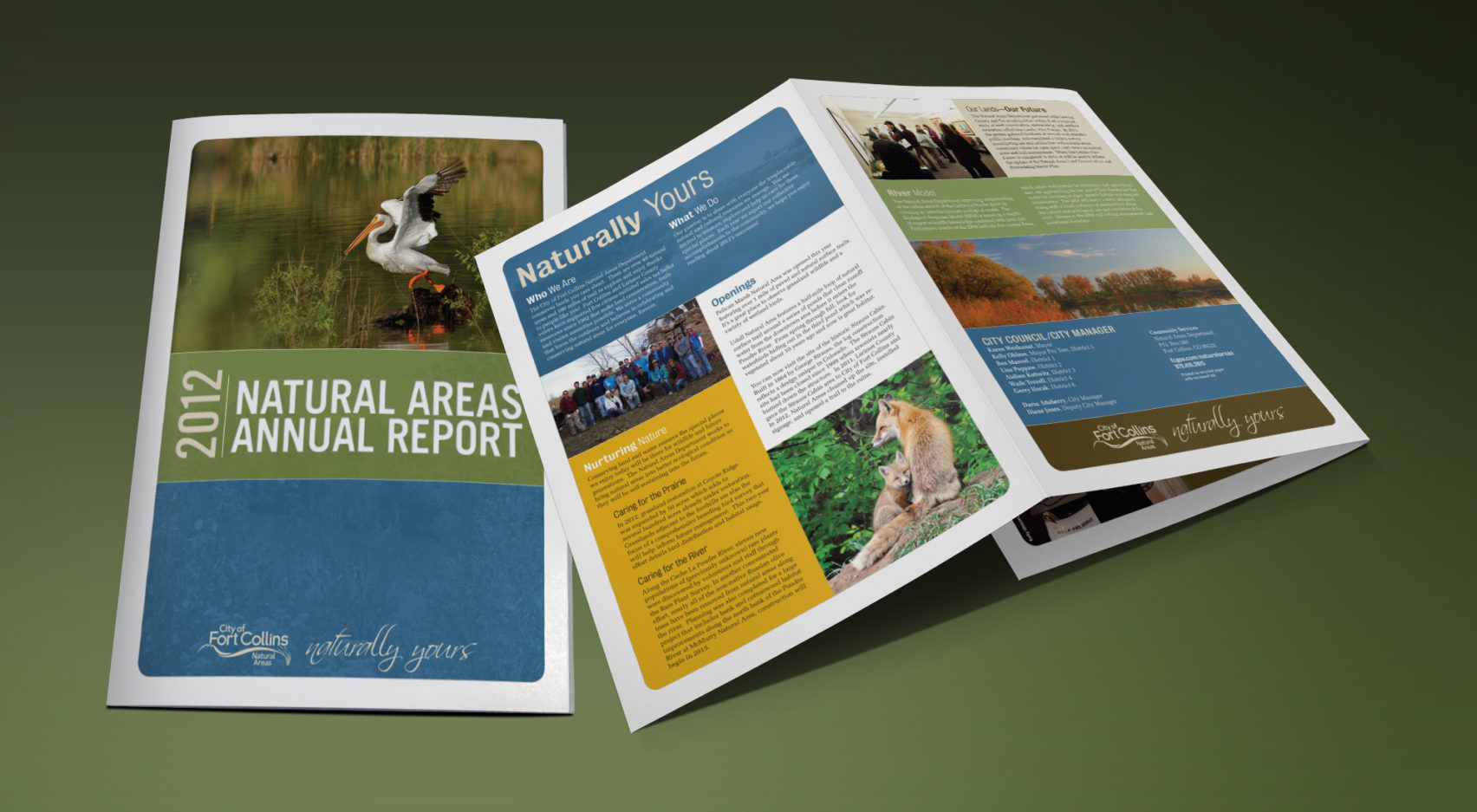 City of Fort Collins Tracks & Trails annual report layout