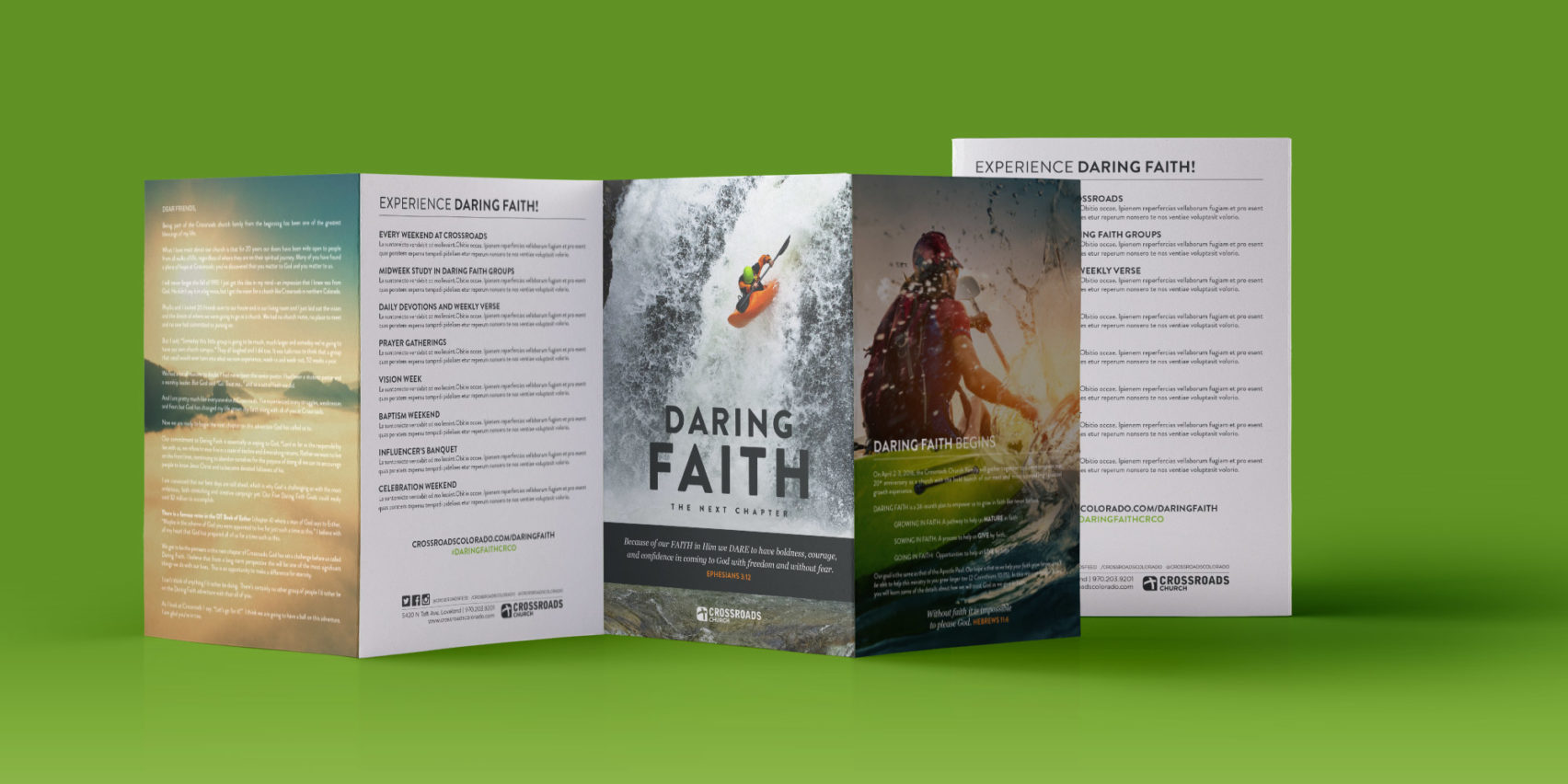 Daring Faith brochure design