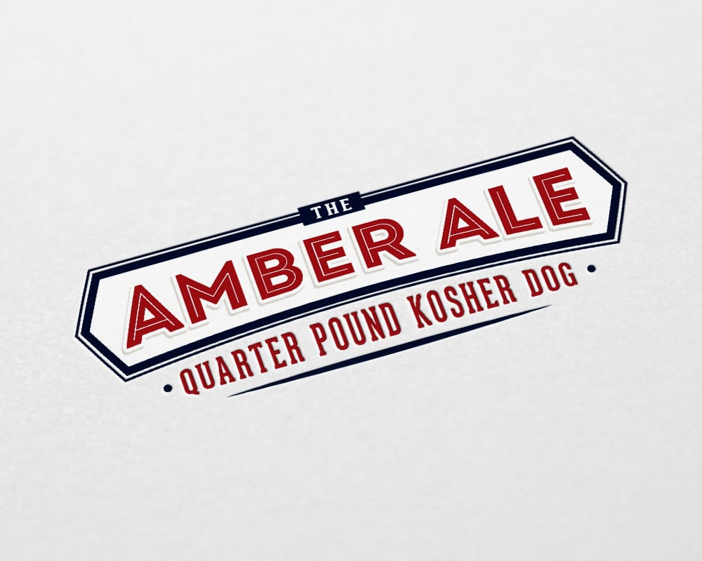 Ram and C.B. & Potts Amber Ale Kosher Dog logo design