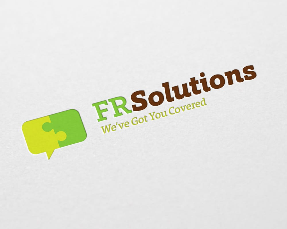 FR Solutions logo design