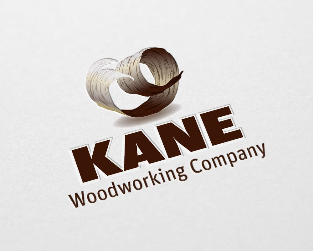 Kane Woodworking Company logo design
