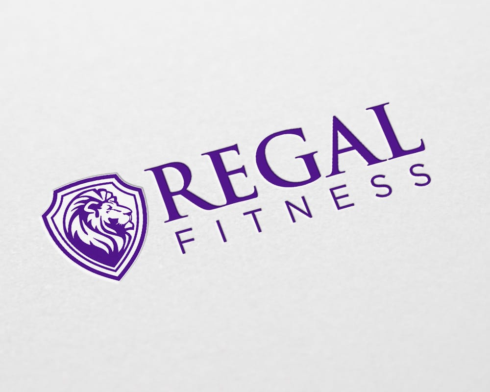 Regal Fitness logo design